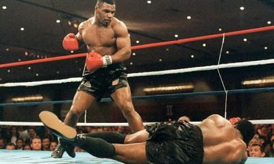 Mike Tyson Standing In Ring After Knocking Out Opponent