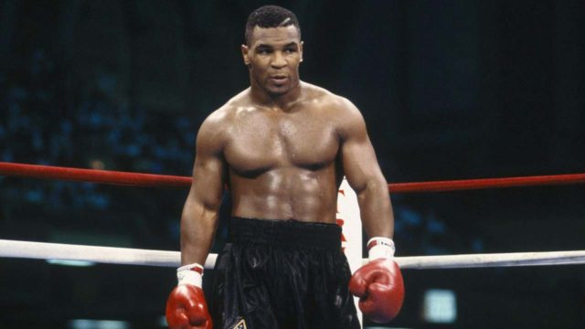 Mike Tyson Standing In Boxing Ring