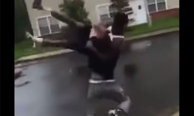 man get body slam and knocked out