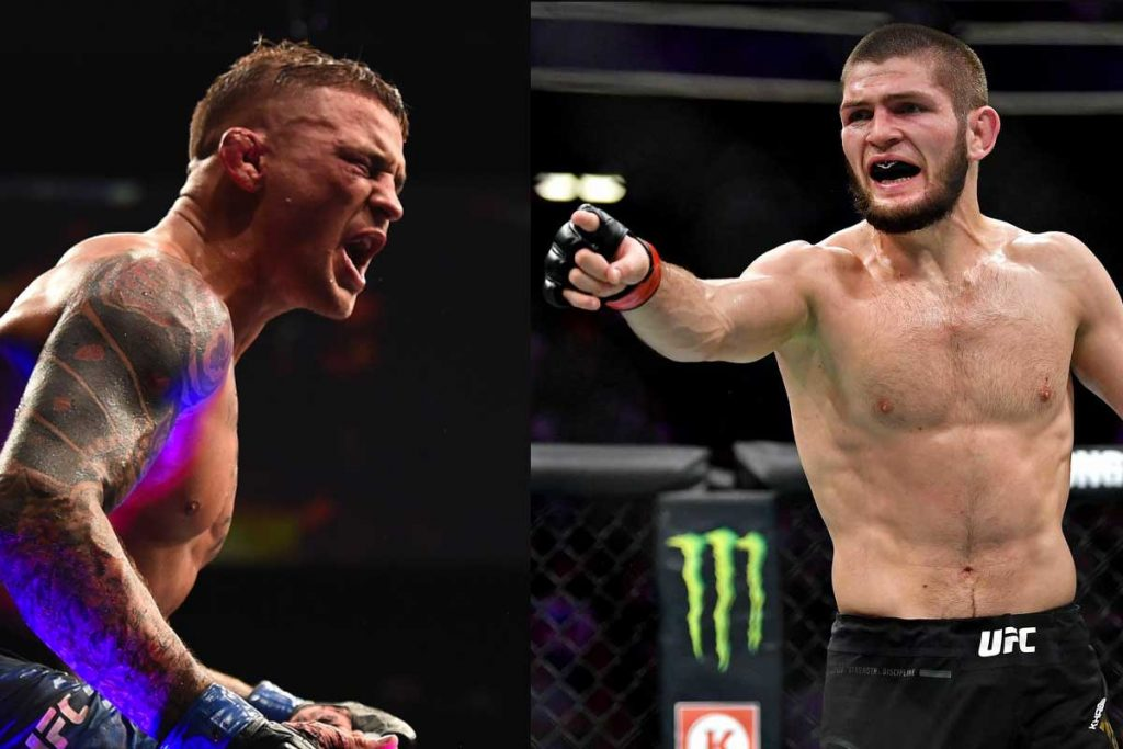 Khabib Nurmagomedov and Dustin Poirier