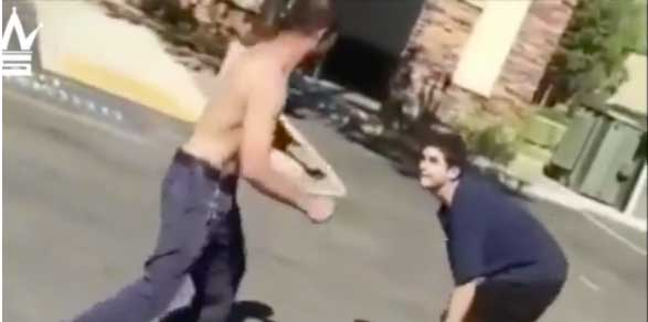 Teen Confronts and Fights His Stepfather in Parking Lot For Smacking His Mom