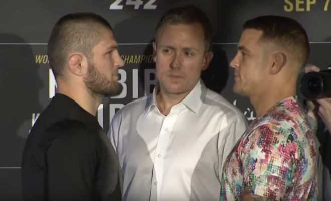 Khabib and Poirier face each other